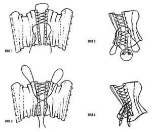 как шнуровать карсет
